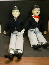 "Vintage Laurel and Hardy 24"" & 20"" Porcelain Dolls Very Good Condition"