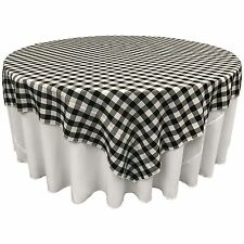 LA Linen Square Checkered Tablecloth 90 by 90-Inch.  Made in USA