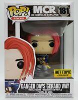 Funko Pop! Rocks MCR #181 Hot Topic Exc Danger Days Gerard Way + Pop Protector