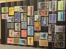 Iceland page of used stamps many are good sets