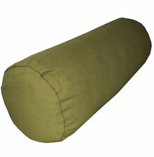 aa130g Olive Green Cotton Canvas Fabric Yoga Bolster Cushion Cover Custom Size