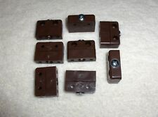 50 Brown Knock Down Modesty Blocks / Assembly Blocks / Fittings Connector