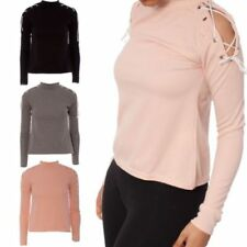 Unbranded Lace Up Long Sleeve Tops & Shirts for Women