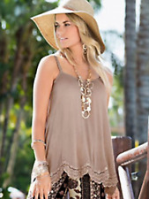 Together Sz 10 Stone Lace Hem Crinkle Camisole TOP Summer Versatile Holiday £42
