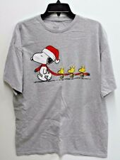 Peanuts Mens Size XL Grey Snoopy Christmas Graphic T Shirt New