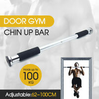 Portable gym workout exercise door doorway pull chin up pullup iron bar ABS sm