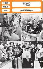 FICHE CINEMA : TITANIC - Webb,Stanwyck,Wagner,Negulesco 1953
