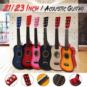 """21"""" 23"""" Inch Wood Folk Acoustic Guitar Ukulele Classical Kids Gift 1/2 Size AU"""
