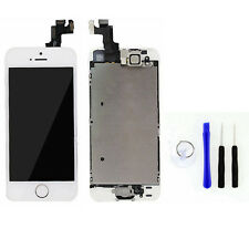 For iPhone 5S White Complete Front Glass Touch Screen Digitizer  LCD Button Cam
