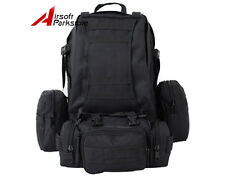 60L Molle Tactical Military Assault Backpack Bag Camping Outdoor Bag Pouch Black
