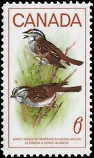 Canada  # 496  WHITE THROATED SPARROW  New Issue 1969 Pristine Gum