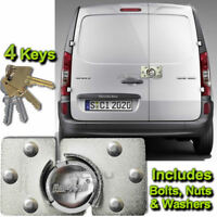 Van High Security Anti Theft Rear or Side Door Garage Shed Steel Hasp Pad Lock