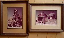 L.K. STARR ** PAIR COLORADO Color Photos ALTA MINE, RICO MINE Vintage SIGNED