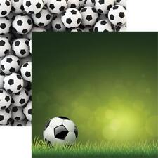 "Reminisce Soccer Double-Sided Cardstock 12""X12"" Scrappapier Fußball 30,5x30,5 cm"