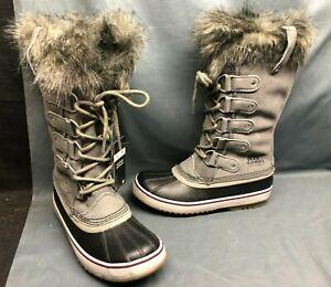 Sorel Women's Joan Of Arctic Waterproof Winter Boots Suede Quarry Size 8.5 NEW!