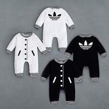 New Baby Kids Boy Girl Infant  Romper Jumpsuit Bodysuit Cotton Clothes 0-18 M