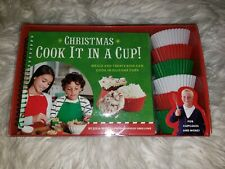 New listing Cook it in a Christmas cup book baking cups new in box kids