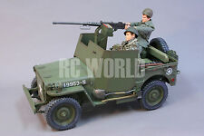 1/6 Model Military Jeep 1/4 TON ARMORED TRUCK W/ 50 CAL + SOLDIERS *NEW BUILT*