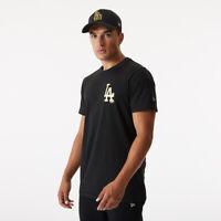 New Era Los Angeles Dodgers Metallic T-Shirt Men's Black Tee Activewear Top