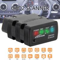 Scanner diagnostique lecteur code voiture ELM327 Bluetooth OBD2 pr PC androïde G