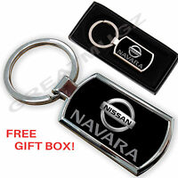 NISSAN NAVARA CAR KEYRING KEY CHAIN RING FOB CHROME METAL NEW