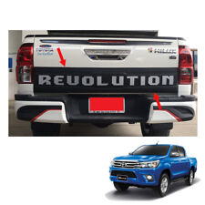 Rear Tail Gate Nudge Cladding Cover Revolution for Toyota Hilux Revo 2015 - 2017