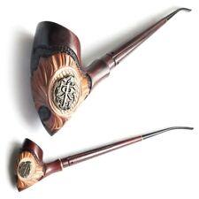 Gandalf - Hobbit XXX-Long Tobacco Smoking Pipe Churchwarden * Hieroglyph Metal *