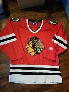 Vintage Bobby Hull Chicago Blackhawks NHL Starter Jersey Medium Hockey