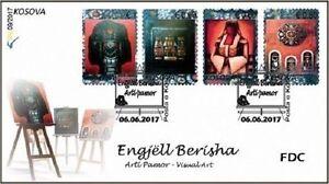 Kosovo Stamps 2017. Visual Art - Engjell Berisha. FDC MNH.