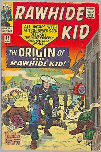 RAWHIDE KID #45 1965 Silver Age Marvel WESTERN comic book - ORIGIN ISSUE + FREE