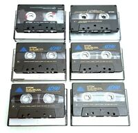 6 x TDK AD90 Cassette Tapes IEC I / TYPE I Normal Position Super Low Noise