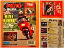 MOTO journal N° 1002-05/09/1991 -Thiumph 900 Trophy-Kawasaki Zephir