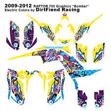 "Raptor 700 Graphics 09-12 DFR ""Bomber"" Electric Colors Full Wrap Yamaha"