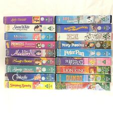 18 Walt Disney VHS Video Tape Bundle Princesses Animated Bambi Dumbo PAL