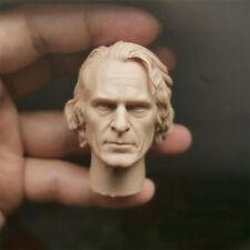 """Blank 1/6 Scale The Joker Joaquin Phoenix Head Sculpt Unpainted Fit 12"""" Figure"""