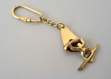100 Pc Vintage Brass Ship Boat Man Key Chain Marine Nautical Handmade Event Gift