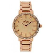 Softech Ladies Bracelet Diamante Face Analogue Rose Gold Wrist Watch Quartz