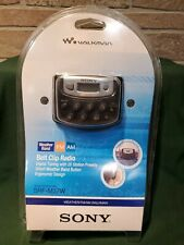 Sony Walkman SRF-M37W Belt Clip Radio NEW SEALED Weather Band FM AM