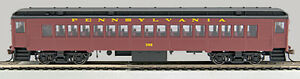 HO P-54 Post-WWII Coach, Tuscan Red.Bk roof #355 (0001-094033-A)