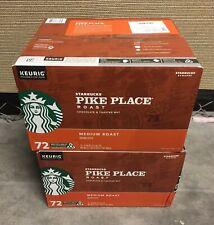Starbucks Pike Place Medium Roast Coffee Keurig K-Cups Pods 144 Count Loose