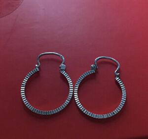 Vintage 925 Silver Hooped Earrings / Stunning/ Hallmarked
