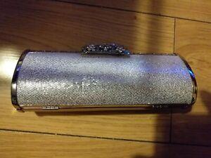 Ladies Small Silver Clutch Bag Nwt