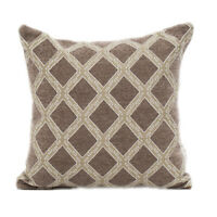 Chenille Jacquard Cushion Cover Pillow Case Coffee Colour 45 x 45 cm Home Decor