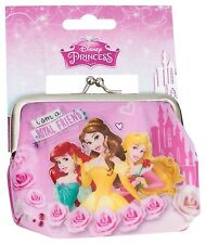 KIDS GIRLS DISNEY PRINCESS CLASP CLIP FRAME COIN PURSE TOY PARTY BAG FILLERS