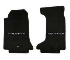 NEW! Floor mats 2006-2010 Pontiac Solstice Embroidered Script Letters Logo Pair