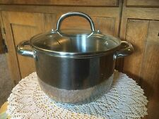 Pre Owned Kitchen A La Carte 3 Quart Stockpot with Lid.  Stainless.  Some wear.