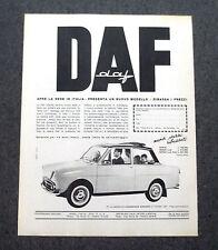 G924 - Advertising Pubblicità - 1964 - DAF OLANDA APRE LA SEDE IN ITALIA