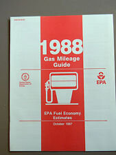 1988 Gas Mileage Guide from the EPA