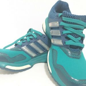 ADIDAS Women Shoes Boost Endless Energy Size US 5 Green Running Lace Up Sneakers