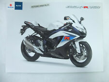 Moto Suzuki gsx-r 750 gsx pubblicita brochure depliant motorcycles prospect